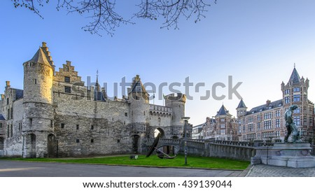 "National Maritime Museum ""The Steen"" in Antwerp, Belgium. - stock photo"