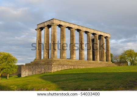 National Monument, Edinburgh, Scotland - stock photo