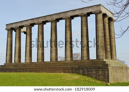 national monument scotland example neoclassicism architecture stock