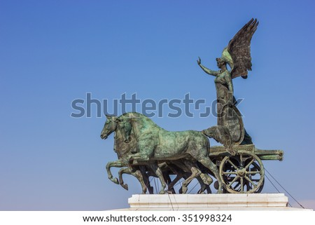 National Monument to Victor Emmanuel II - stock photo