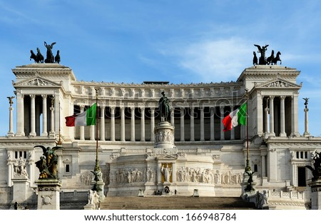National Monument to Victor Emmanuel II (Altare della Patria), Rome, Italy - stock photo