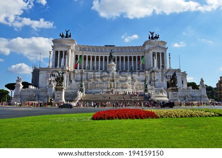 National Monument to Victor Emmanuel II, Rome - stock photo
