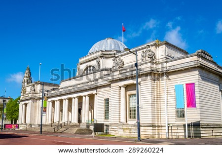 National Museum of Wales in Cardiff, Great Britain - stock photo