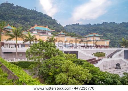 National Palace Museum in Taipei, Taiwan - stock photo