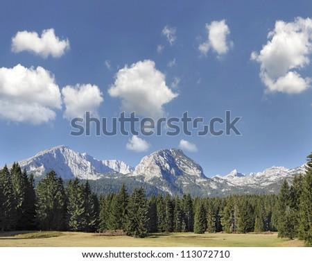 National Park Durmitor Mountains, Montenegro, World Heritage Site by UNESCO - stock photo