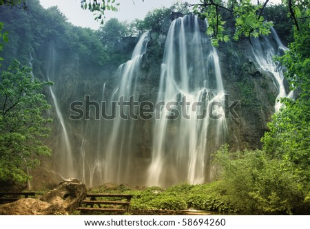 National Park from Plitvice - stock photo