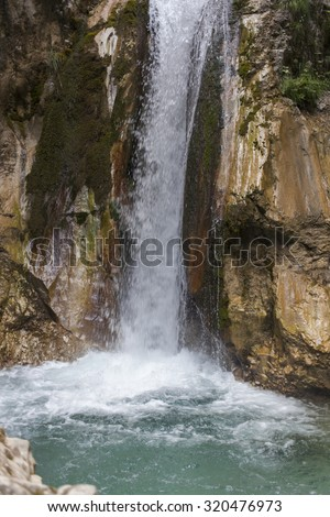 National park in the Austria, Tscheppaschlucht, Carinthia, high resolution photos of waterfalls, river, path, stairs, bridges