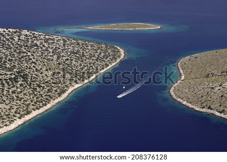 National park Kornati, Kornati archipelago, Adriatic sea in Croatia - stock photo