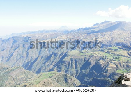 National park Simien mountains, Ethiopia