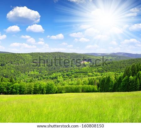 national park Sumava - Czech Republic  - stock photo