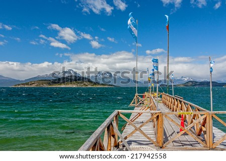 National Park Tierra Del Fuego in Ushuaia, Argentina. - stock photo