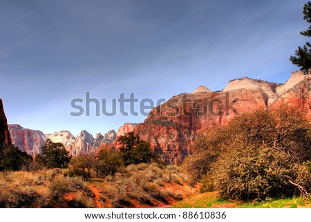 National Park, Zion, Southern Utah state USA