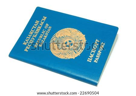 National passport Republic of Kazakhstan - stock photo