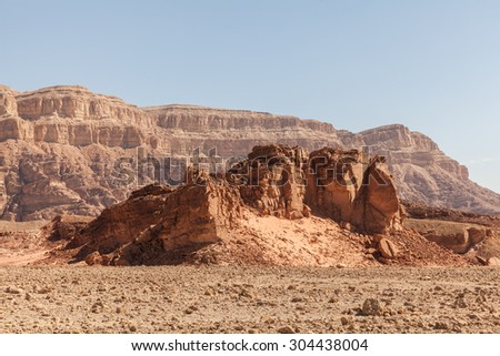 National Timna Park, located 25 km north of Eilat, Israel.