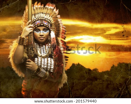 Native American - stock photo