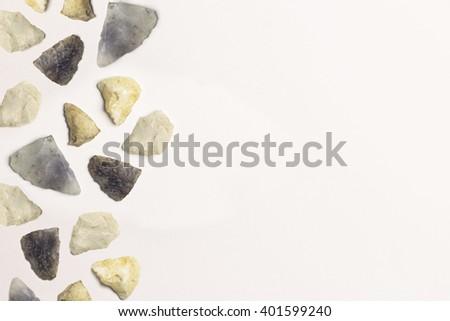 Native American Arrowheads - stock photo