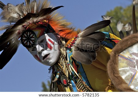 Native American dancer at 2007 Mahkato Wacipi Pow Wow in Mankato