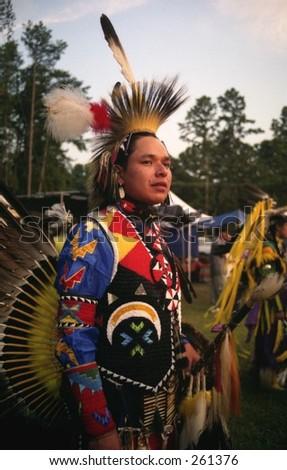 Native American Man - stock photo