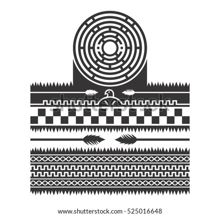 Native American Indian Art Tattoo Pattern Stock Vector 173379968 ...