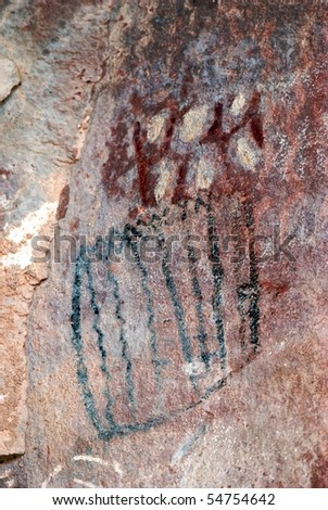 native american petroglyph at palatki ruins near sedona