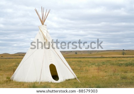 native american teepee - stock photo