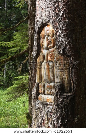 Native American Tree Trunk Carving