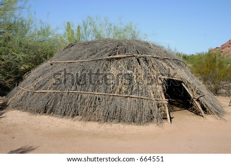 Native Dwelling - stock photo