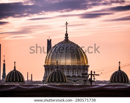 Nativity of Christ Cathedral in Riga, Latvia - stock photo