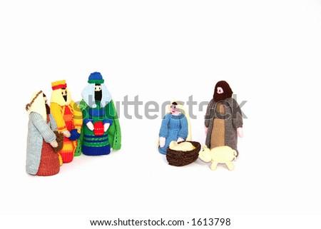 nativity scene - stock photo