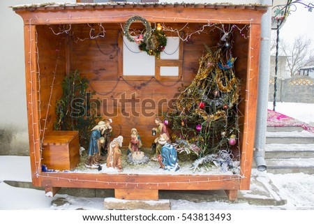 nativity scene outdoors