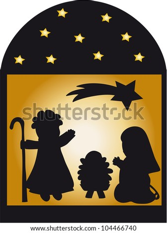Nativity Silhouette Pattern