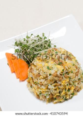 Natto fried rice - stock photo