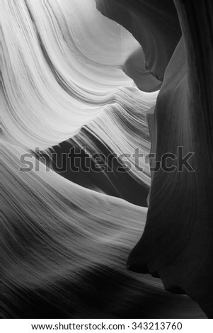 Natural abstract for background from the lower Antelope Slot Canyon - stock photo