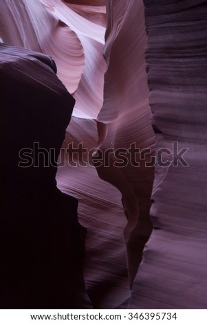 Natural abstraction for background, from the slot canyons of the Southwest USA. - stock photo
