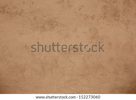Natural adobe plaster with straw and clay - stock photo