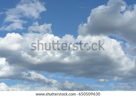 Natural background, blue sky, clouds