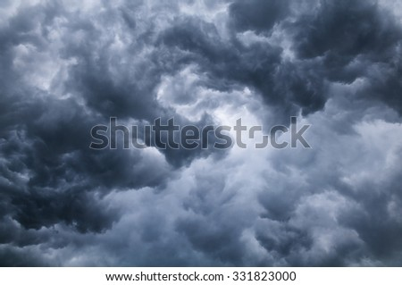 Natural background turbulent storm clouds. - stock photo