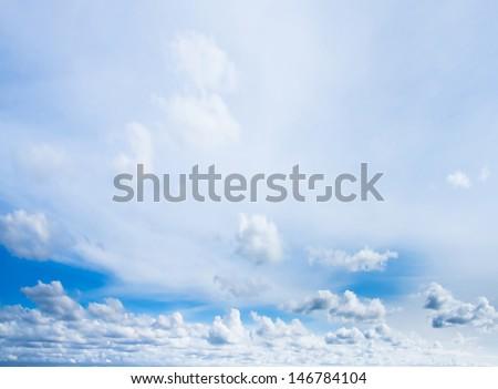 Natural Beauty Skies Above Broad Daylight  - stock photo