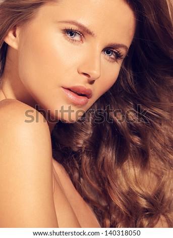 natural beauty. studio portrait - stock photo