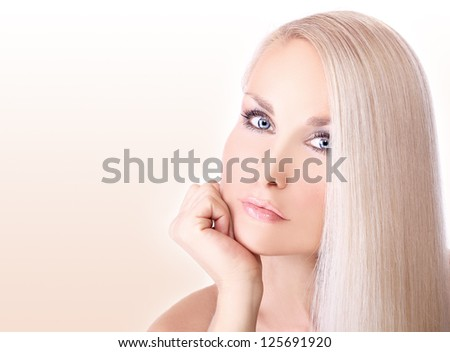 Natural blond - stock photo