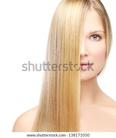 Natural blonde. - stock photo