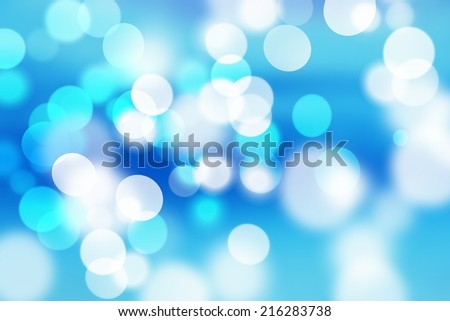 natural blue abstract blurred background, bokeh - stock photo
