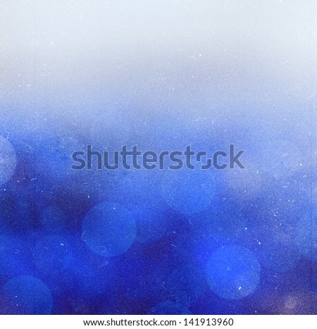 Natural blue blur abstract sparkles background. - stock photo