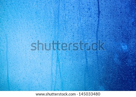 Natural blue water drop background. water drops background - stock photo