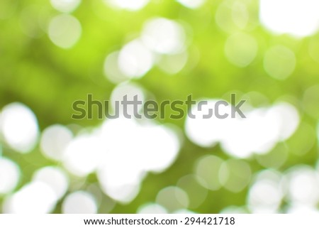Natural bokeh in green and yellow tones - stock photo