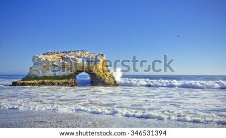 Natural Bridges, Santa Cruz, CA  - stock photo