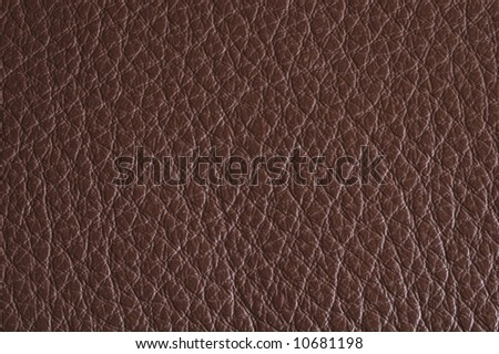 Natural brown leather background / texture - stock photo