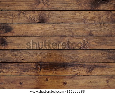 natural brown wood wall texture - stock photo