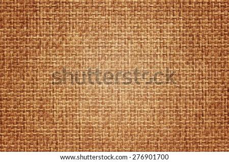 Natural burlap background, close up - stock photo