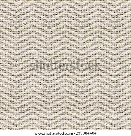 natural burlap texture digital paper with chevron - tileable - stock photo
